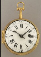 Zwitsers verguld 'Oignon' zakhorloge, spillegang, gesigneerd 'Amed Marchand a Geneve'. ca 1700